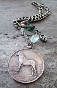 THOROUGHBRED  vintage assemblage necklace with by TheFrenchCircus