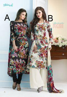 #Vaishali Print #Crepe Indian #SalwarKameez Suit 3104 AB