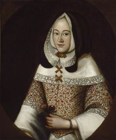 ab. 1630 British School - Jane, first Wife of John Tradescant the Younger