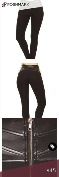 outlet online special sales best authentic leggings en cuir noir