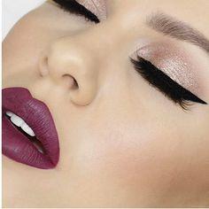 Buzzin' over this makeup look @nikkiajoy is wearing Wine Down liquid lipstick. Save 45% on regular priced items using code FLASHBACK #GCLOVE