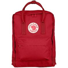 Fjallraven Women's Kanken Classic Backpack (1,435 MXN) ❤ liked on Polyvore featuring bags, backpacks, deep red, fjallraven bag, convertible bag, padded backpack, detachable backpack and red backpack