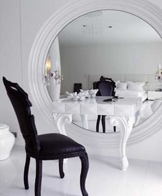 vanity for dressing room; love the mirror!