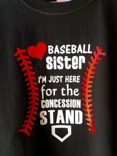 BASEBALL SISTER SVG file, Baseball Svg for T shirts, Hats, Bags, Baseball  Sister Shirt, Just here for the Concession Stand, Use with Cricut. d068846658da
