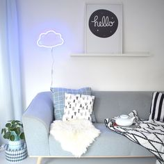 How sweet is this blue cloud shaped neon style light? Our energy efficient durable LED version of the popular retro neon light is made from plastic and thus is ideal for decorating a children's room. Boy Room, Kids Room, Child's Room, Scandinavian Nursery Decor, Blue Neon Lights, Light Blue, Neon Licht, Cloud Lamp, A Little Lovely Company