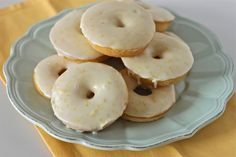 Double Lemon Glazed Doughnuts | TheCornerKitchenBlog.com
