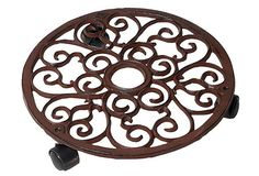 These really are great to set your outdoor pots on.  You get better drainage, and you don't have that ring that pots make on your deck or patio.  Round Cast Iron Plant Trolley, Small on OneKingsLane.com