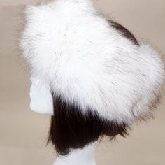 c9cd9bc4326a7 Womens Russian Thick Fluffy Cap FAUX Fur Headband Hat Winter Ear Warmer Ski  Hats