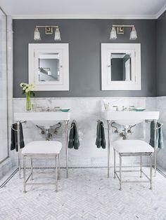 Gray + White