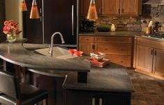 Luxurious Kitchen with Lava Stone Countertops