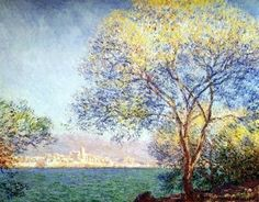 Antibes in the Morning-Claude Monet