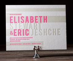 #letterpress #wedding #invitation by Bella Figura available at www.loveply.com | PLY: The Ultimate Paper Blog