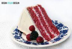Receta de Red Velvet o pastel de terciopelo rojo. #Receta #Vegana