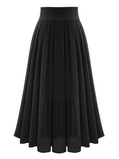 Black High Waist Overlay Chiffon Skirt | abaday