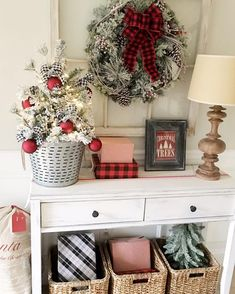 christmas bedroom christmas entryway christmas vignette christmas interiors cozy christmas rustic - Entryway Christmas Decorations