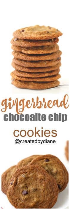 gingerbread-chocolate-chip-cookies-createdbydiane-perfect-for-christmas