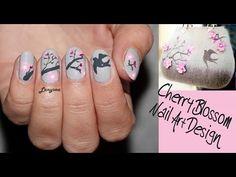 ▶ Cherry Blossom Spring Nail Art Design - YouTube