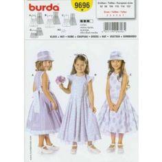 BURDA - 9696 Robe + chapeau - enfant