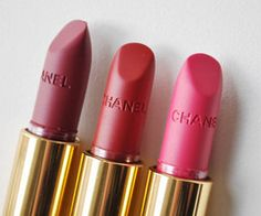 CHANEL lipsticks. They're so pretty it's hard to use them.. #makeup #beauty