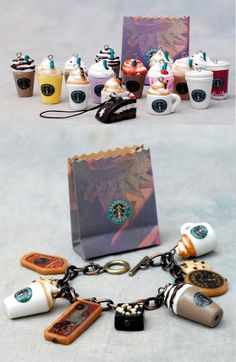 Starbucks bracelet and charms