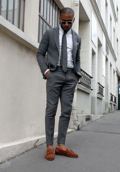 Handsome. Fashion. White & Grey. Black. Street. Suit. Dressed. Fashion. Inspiration. Great Match. Schedvin.