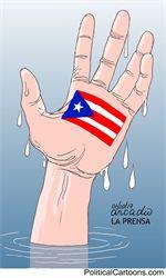 SOS Puerto Rico by Arcadio Esquivel, Costa Rica, Caglecartoons.com