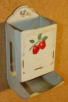 "Most kitchens had a match holder/dispenser! Most gas stoves did not have a pilot-light; so a match was needed to ""light"" the cook stove and space heater. Matches were also used as deodorizes in the bathroom!"