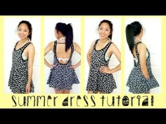 Summer Dress Tutorial - this is so great! In love with this girl's DIYs! :D