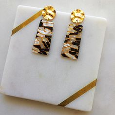 Excited to share this item from my #etsy shop: Black Gold Rectangle Resin Acetate Gold Stud Fashion Earrings Lightweight - Geometric Dangle Earrings - Black Earrings - Handmade Black Earrings, Dangle Earrings, Gold Studs, Fashion Earrings, Earrings Handmade, Black Gold, Dangles, Etsy, Black Stud Earrings