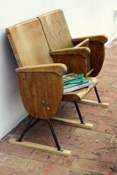 Vintage Cinema Seats . Ginger