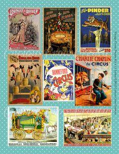 DIY vintage circus posters