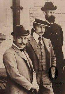 Homburg Hat and Boater. 1910.