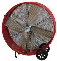 MaxxAir BF30DD 30-Inch Direct Drive Commercial Fan, Red