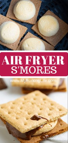 fryer # Air Fryer S'mores You do not need a campfire to make these emmores, you just need an Air Fryer. Delicious roasted marshmallows in the Air Frit fryer in less than 10 minutes. It is the easy and perfect dessert. Air Fryer Recipes Potatoes, Air Fryer Recipes Snacks, Air Fryer Recipes Low Carb, Air Frier Recipes, Air Fryer Dinner Recipes, Dip Recipes, Easy Recipes, Healthy Recipes, Chicken Recipes