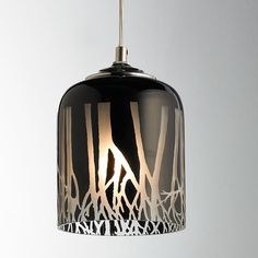 Glass Roots Silhouette Pendant Light