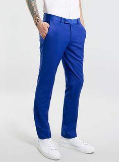 Noose And Monkey Blue suit trousers* Trouser Suits, Trousers, Monkey, Asos, Sweatpants, Formal, Blue, Men, Shopping