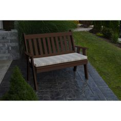 A&L Furniture Company Recycled Plastic 5' Traditional English Garden Bench