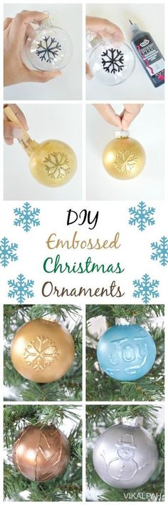 This week, are you ready to make another interesting ornament for your Christmas tree? It is so simple and easy to make. All you need is puffy paint, acrylic pa…
