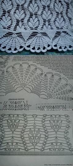 motivi crochet (x sciarpe scialli). Crochet Shawl Diagram, Crochet Chart, Crochet Motif, Crochet Doilies, Crochet Lace, Free Crochet, Crochet Giraffe Pattern, Crochet Bedspread Pattern, Crochet Curtains