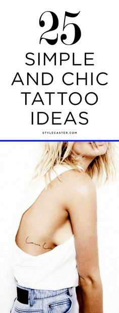 25 Simple & Minimalist Tattoo Ideas for Women | @StyleCaster