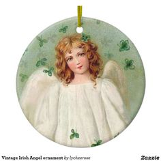 Vintage Irish Angel ornament