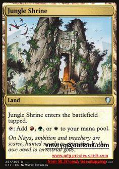 Land Khans of Tarkir Mtg Magic Common 4x x4 4 FOIL Jungle Hollow