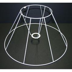 Douille 28mm Armature Ronde blanche pour Abat-jour 20 cm Hauteur et Diam Diam
