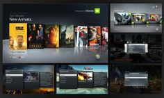 "Xbox 360 Dashboard UI ""NXE"" by Rowland Brown, via Behance 2013-12-11その一 xbox ui search 界面效果可以参考"