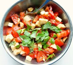 This Chopped Caprese Salad can be enjoyed by any member of the family, even those doing the 21 Day Fix!