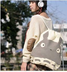 Totoro bag/backpack. So cute! I want one of those. That lucky gal.