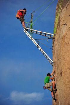 Ever wondered how photographers take pictures of rock climbers?