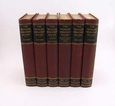 Burgandy and Black Books 1910                 by FineLineTreasures, $30.00