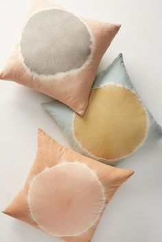 Blue Pillows by Anthropologie, Flower-Dyed Ardel Pillow Isle Of Man, Flower Petals, Flowers, Anthropologie Uk, Anthropologie Christmas, Textiles, Of Wallpaper, Soft Furnishings, Decorative Throw Pillows