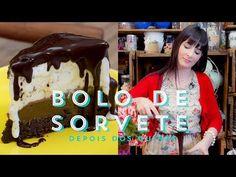 BOLO DE SORVETE Com Brownie e Calda de Chocolate   Depois dos Quinze 10 #ICKFD Niver da Bru - YouTube